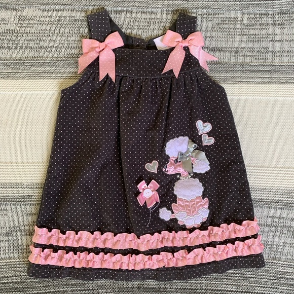 Wonderkids Other - Corduroy overall dress with French Poodle